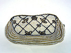 Vintage Bead And Pearl Evening Clutch  bag
