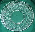 "Cambridge ROSE POINT #1398 13"" Salad Bowl, Crystal"