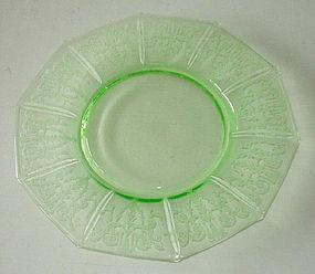 "Cambridge CLEO 8"" Luncheon Plate, Emerald Green Light"
