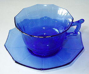 Cambridge DECAGON Cup and Saucer, Ritz Blue Cobalt