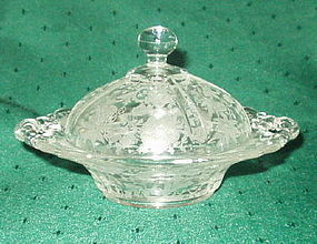 Cambridge WILDFLOWER Covered Butter Dish, Crystal