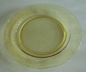 Fostoria JUNE 10.5� Large Dinner Plate, Topaz Yellow
