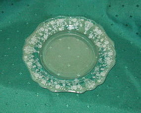 "Cambridge ROSE POINT #3400 8 1/2"" Salad Plate, Crystal"