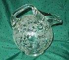 Cambridge ROSE POINT #3400 80 oz Tilt Ball Jug, Crystal