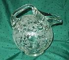 Cambridge ROSE POINT #3400 80 oz Tilt Ball Jug, Crystal