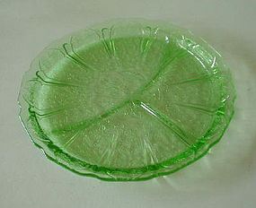 "Jeannette CHERRY BLOSSOM 9"" Grill Plate, Green"