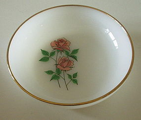 "Fire King ANNIVERSARY ROSE 6 5/8"" Soup Plate Bowl"