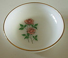 """Fire King ANNIVERSARY ROSE 6 5/8"""" Soup Plate Bowl"""