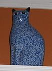 "Vintage Porcelain 10"" Blue Cat with Black Ears"