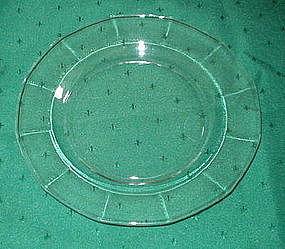 """Fostoria FAIRFAX 8.6"""" Luncheon Plates, Crystal (7)"""