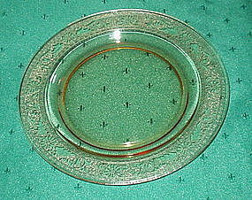 "Fostoria SEVILLE 6"" Bread and Butter Plates (4), Amber"