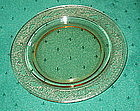 """Fostoria SEVILLE 6"""" Bread and Butter Plates (4), Amber"""