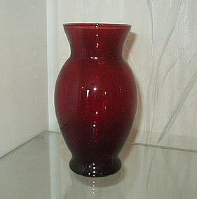 "Hocking ROYAL RUBY 6 3/8"" Coolidge Vases (Pair)"