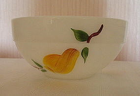 "Fire King GAY FAD Fruits 6"" Bowl, Country Kitchen Style"