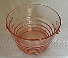 """Paden City PARTY LINE 6 1/2"""" Handled Ice Tub, Pink"""