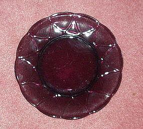 """Hazel Atlas NEWPORT 8.5"""" Luncheon Plate, Amethyst"""