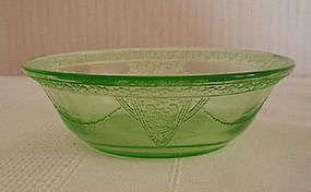 "Federal GEORGIAN Lovebirds 4 1/2"" Berry Bowls, Green"