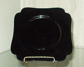 "Cambridge 6"" #3400 Square Dessert Plate, Ebony Black"