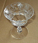 "Cambridge ROSE POINT #3500 4.75"" 7 oz Sherbet, Crystal"