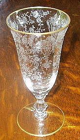 Cambridge ROSE POINT #3121 Juice Tumbler, Gold Trim
