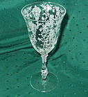 "Cambridge ROSE POINT #3121 8 1/4"" 10 oz Water Goblet"