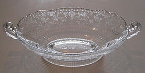 "Cambridge ROSE POINT #3500 12"" Footed Oblong Bowl"
