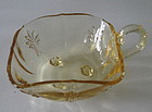 "Fostoria BAROQUE 4"" Square Mint Bowl, Topaz Yellow"