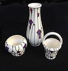 Set of three Dux vases /bowls , c1930
