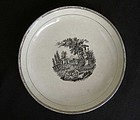 English bat printed cake plate or bowl