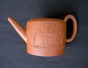 An 18th c Staffordshire redware teapot by Thomas Barker