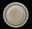 Leeds creamware plate with pierced hearts border, 18th century