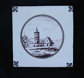 Dutch Delft tile, 18th century