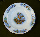 English flow blue Davenport plate, Victorian