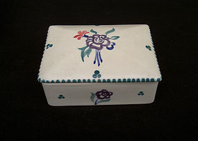 English Poole Pottery lidded box