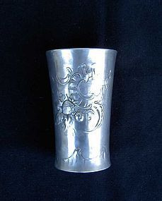 German Jugendstil pewter vase by Kayserzinn