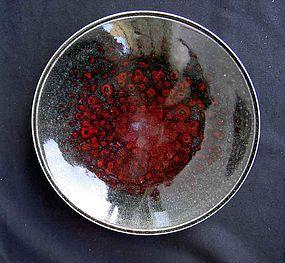 Swedish stoneware dish by Sven Hofverberg