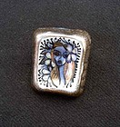 Poetic flower girl ceramic brooch