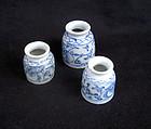 Chinese blue and white medicine jars
