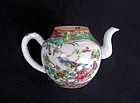 Canton Famille Rose / Rose Medallion  miniature teapot