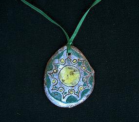 Vintage ceramic pendant, signed Vallauris, 1950�s