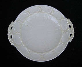 Irish Belleek cake plate