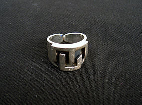 Sterling ring by Antonio Belgiorno, Argentina, c 1940�s