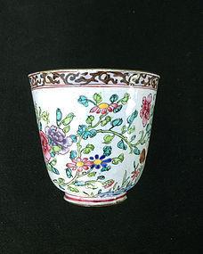 Canton enamel bowl, Qianlong period