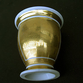 Berlin Schauspielhaus cabinet cup and saucer, 1820's