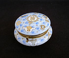 French Opaline enamelled dresser box, 19th c