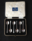 Art Déco sterling silver spoons in original box