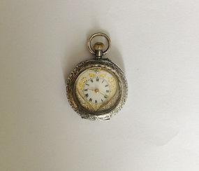 Swiss ladies watch, sterling, antique