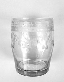 Swedish Empire period tumbler glass, c 1810-20
