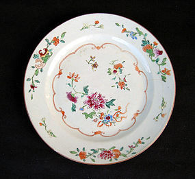 Chinese Famille rose plate, early Qianlong, c 1740-50