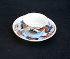 Japanese early 18th century Imari cup and saucer